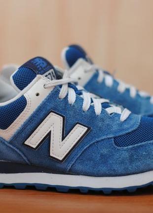 Синие замшевые кроссовки, кеды new balance 574. 38 размер. оригинал