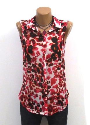 Модная блуза от h&m принт размер: 40-xs