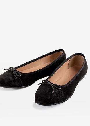 Туфли балетки нат. замш, германия