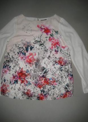Нежная блуза цветочный принт