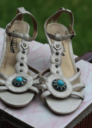 Шикарные босоножки с бирюзой puccetti fashion 36-37