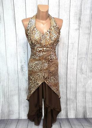 Платье стильное леопардовое elizi poem