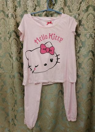Красивая хлопковая пижама h&m hello kitty