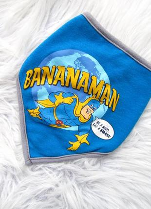 Слюнявчик  шарф   на кнопке mothercare bananaman.