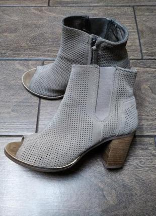 Замшевые ботинки#ботильоны
