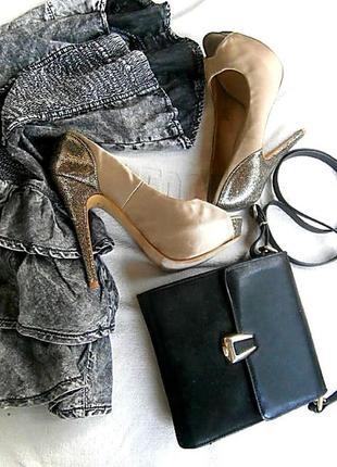 Нарядные туфли с открытым носком