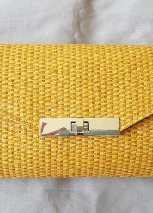 Плетёная сумка клатч parfois