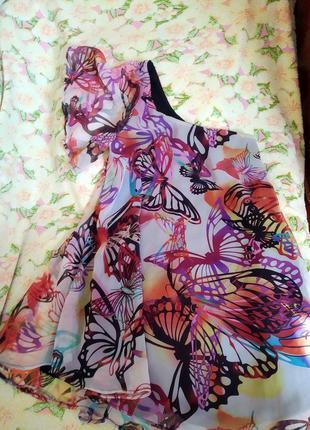 Платье с воланом на одном плече сарафан для беременных1 фото