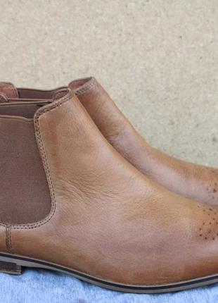 Ботинки челси pier one англия кожа 39р броги1 фото