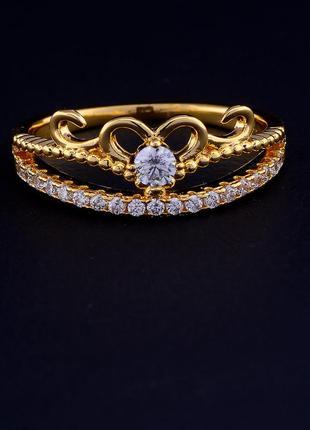 Кольцо 'xuping' фианит (позолота 18к) 0707880