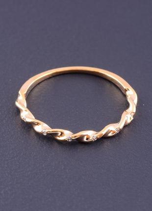 Кольцо фианит (позолота 18к)  0714950