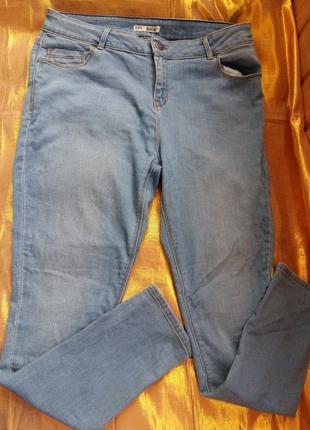 Крутые джинсы зауженные батал нюанс