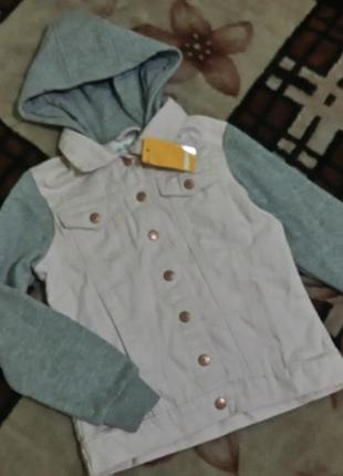 Джинсовая куртка на 9-10 лет , пиджак , стильный модный пиджачок джинсовый