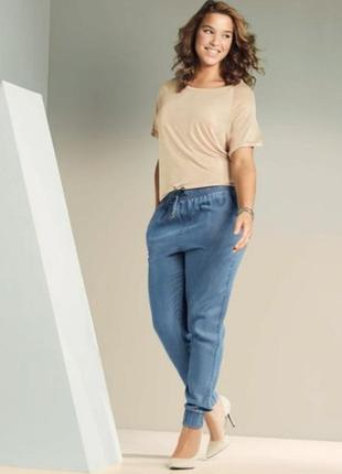 Тонкие летние джинсы на резинке esmara