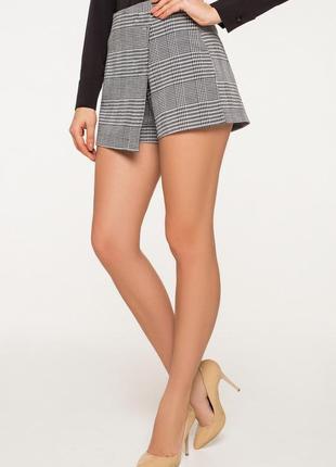Женские шорты юбка чиносы в клетку