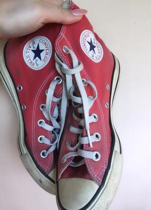 Converse красные кеды