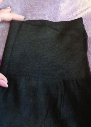 Бесшовные хлопковые черные лосины с поясом утяжкой. 44/54.хорошее качество