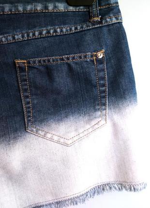 Джинсовые шорты george с градиентом3 фото
