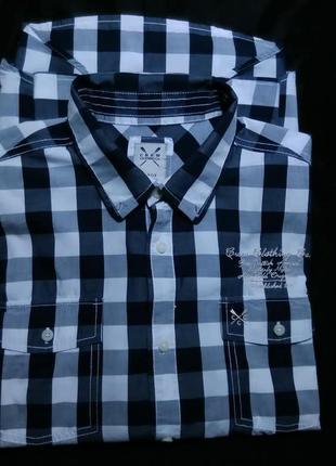 Crew clothing co рубашка мужская классическая в клетку
