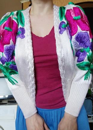 Кофта кардиган чистый шёлк3 фото