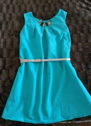 Яркий джинсовый сарафан мятного цвета беременных котоновий платье