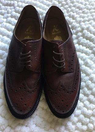 Чоловічі шкіряні туфлі броги k-shoes