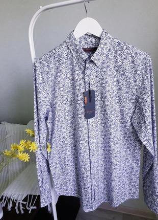 Актуальная рубашка в цветочный принт