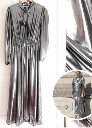 Rinascimento,стильное платье металик, италия s-m