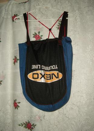 Сумка-рюкзак тканевая сине-черного цвета-60грн.
