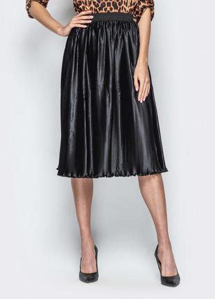 Плиссированная юбка плиссе миди
