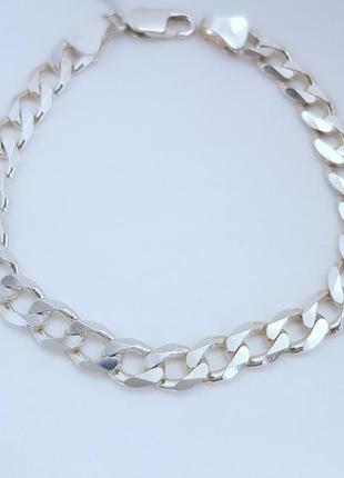Браслет серебро 925 проба, длина 22 см.