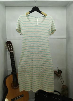 Платье трикотажное миди а силуэт