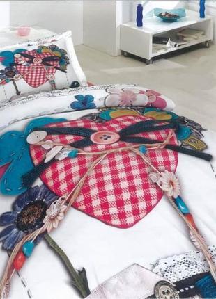 Комплект постельного белья из натурального хлопка для девочек
