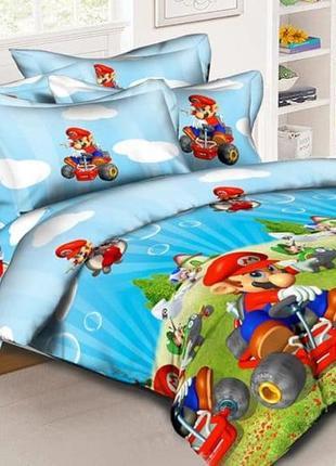 Комплект постельного белья из натурального хлопка для мальчиков