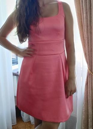 Коктельное персиковое платье s.oliver размер полный s