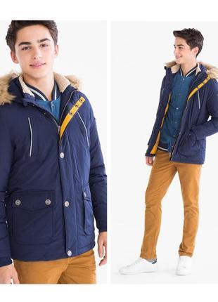 Куртка пуховик для подростков c&a германия р.160-170см