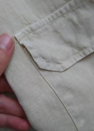 Стильная льняная рубашка оверсайз №9max4 фото