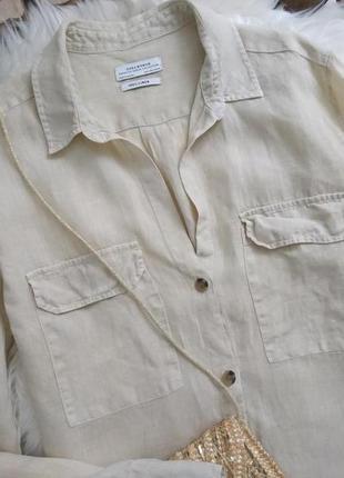Стильная льняная рубашка оверсайз №9max2 фото