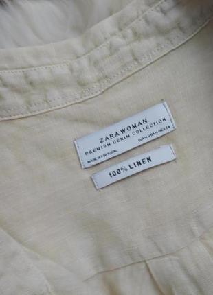 Стильная льняная рубашка оверсайз №9max3 фото