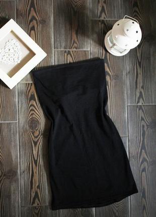 Базовое платье бюстье на резинке