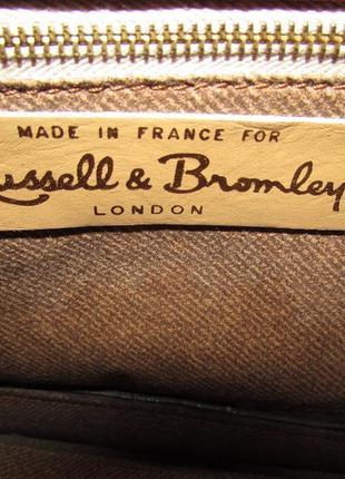 Клатч 100% натуральная кожа ~russell & bromley~ франция6 фото