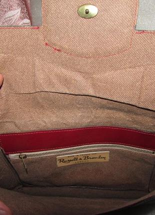 Клатч 100% натуральная кожа ~russell & bromley~ франция7 фото