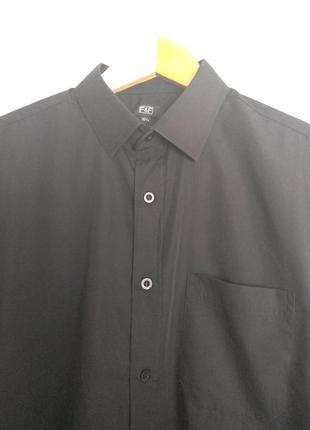 Классическая черная рубашка, воротник 39