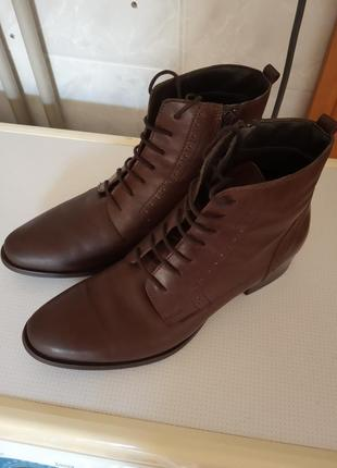 Кожаные ботинки,полуботинки,полуботиночки,ботиночки,от roberto santi