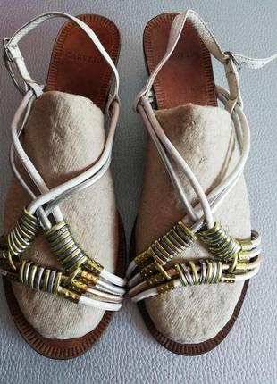 Босоножки кожаные шлепки сандали 39