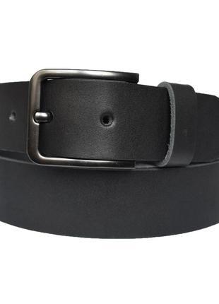 Premier кожаный мужской ремень черный кожанный пояс для джинсов пасок ремінь