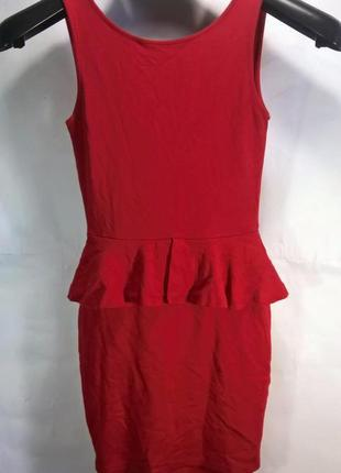 Облегающее платье футляр с баской зара