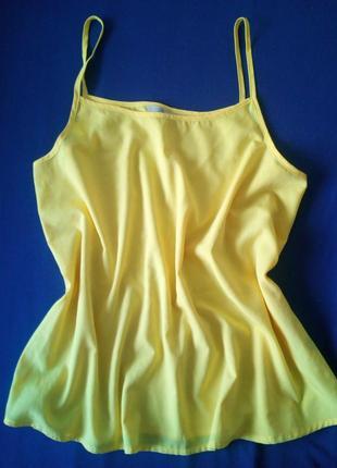 Яркая жёлтая блуза