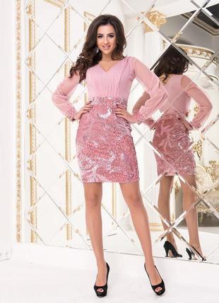 Коктейльное платье 2 цвета