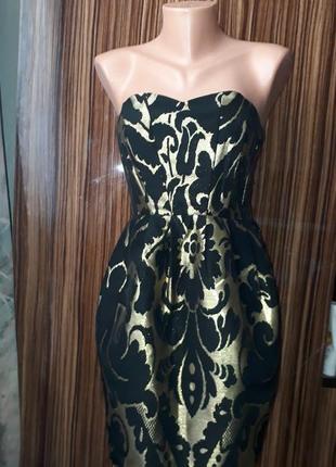 Вечернее платье парча, платье из парчи размер xs